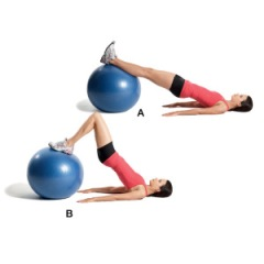 Image from www.body-mania.com. Using a ball rather than a machine can help strengthen your core as well