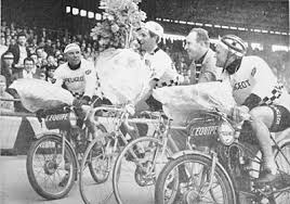 Fascinating life of Anquetil - if you read the back story he also had a son with his step-daughter and married his stepson's ex-wife