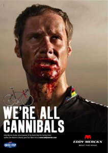 Love this promo poster from Eddy Merckx bikes....little doubt they will mind me using it!