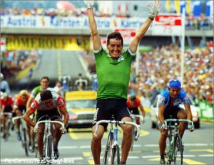 Remember seeing this quote: 'As a young 18yr old in the Irish Milk Race, he was so much better than anyone else that they used to let him off in the morning and have their own race behind him'