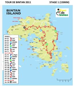 Stage 1 of Tour of Bintan 2014
