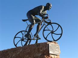 Glory in Suffering - Marco Pantani statue