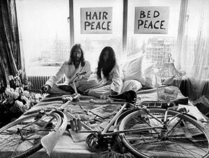 Bike in bed