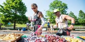 See 'Throw me a Bar - A guide to On-Course nutrition' from the Ironman organizers http://www.ironman.com/triathlon-news/articles/2013/05/on-course-ironman-nutrition-by-bonk-breaker.aspx#axzz2wBuiT8SA