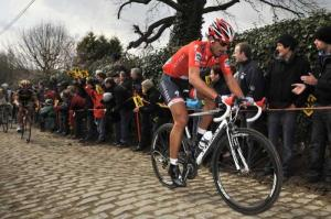 """Cancellara - """"The slower you go, the worse it is. You have to go fast to smooth out the bumps""""."""
