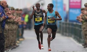 Pipped to the line at the Great North Run - Guardian's coverage, click image