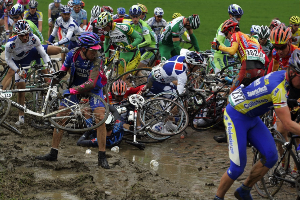 Photo: It's a cross between mountain biking, road racing and gladiator warfare.
