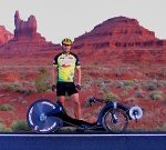 Glenn Druery, RAAM veteran and recumbent ultra racer extraordinaire - Click picture for blog